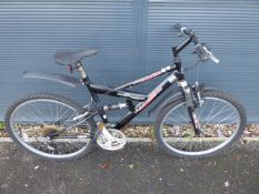 (4040) Ammaco black and red gents mountain bike