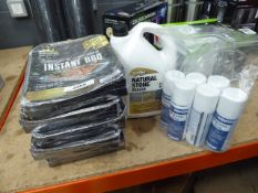 5 small instant BBQs, butane gas, and natural stone sealer