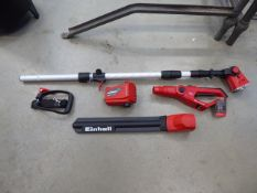 Einhell boxed long reach pruner and hedge cutter