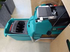 Boxed Bosch AXT25TC electric garden shredder