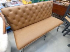 Industrial Tan 140cm Studded Back Bench (20)