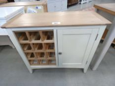 Malvern Shaker Ivory Painted Oak Wine Cabinet (3)
