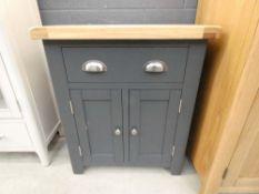 Hampshire Blue Painted Oak 2 Door Mini Sideboard (43)