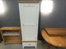 Suffolk White Painted Oak Single Wardrobe (7)