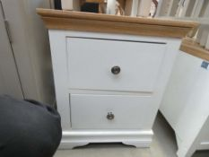 Florence White Painted Large Bedside Cabinet (28)