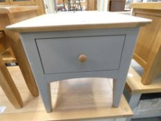 Malvern Shaker Grey Painted Oak Lamp Table With Drawer (48)