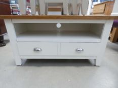 Chester White Painted Oak Small TV Unit (21)