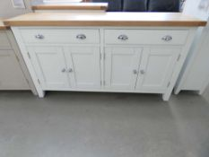Suffolk White Painted Oak 4 Door Extra Large Sideboard (18)