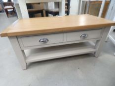 Chester Grey Painted Oak Coffee Table With Drawers (11)