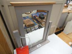 Malvern Shaker Grey Painted Oak Dressing Table Mirror (57)