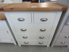 Hampshire Ivory Painted Oak 2 Over 3 Chest (45)