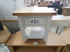 Chester Grey Painted Oak 1 Drawer Large Lamp Table (21)