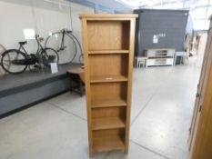 Rutland Oak Tall Narrow Bookcase (2)