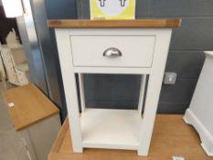 1058 Portland White 1 Drawer Telephone Table (48)