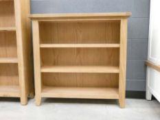Rustic Oak Small Wide Bookcase (4)