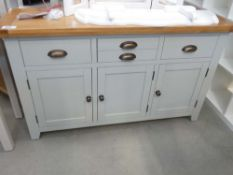 Hampshire Grey Painted Oak Large 3 Door Sideboard (14)