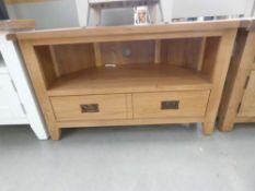 Rustic Oak Corner TV Unit (35)