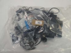 Bag containing quantity of leads, cables, PSUs and HP docking station HSTNN-I11X