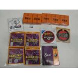Quantity of guitar strings and Clarinet unfiled reeds