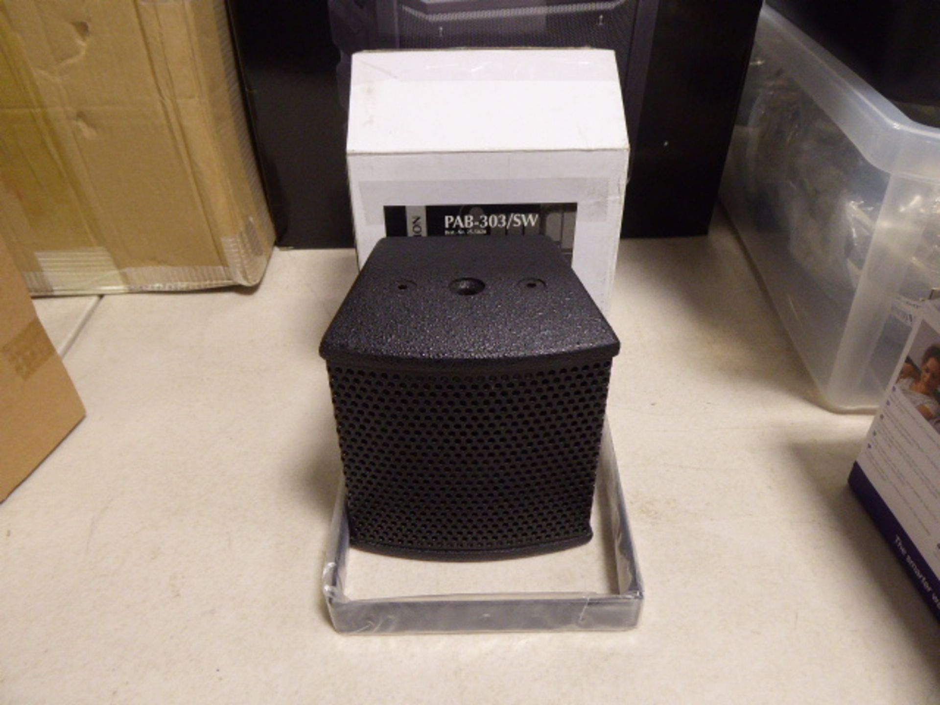 Stage Line PAD-303SW mini PA speaker system in box