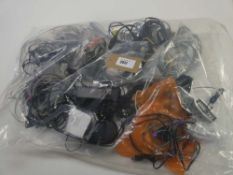 Bag containing quantity of various leads, cables and PSUs