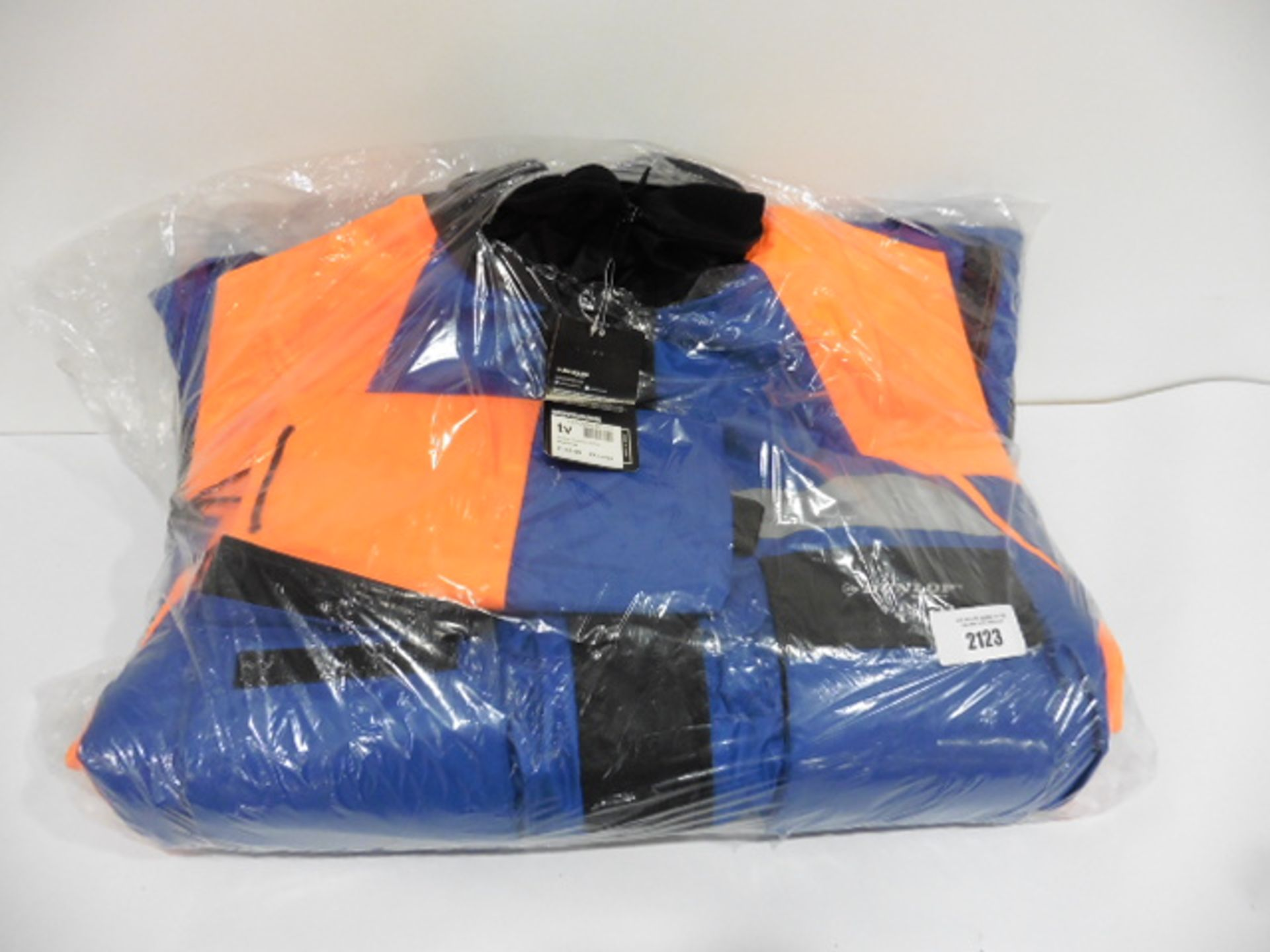 Dunlop size XXL blue and orange floatation suit