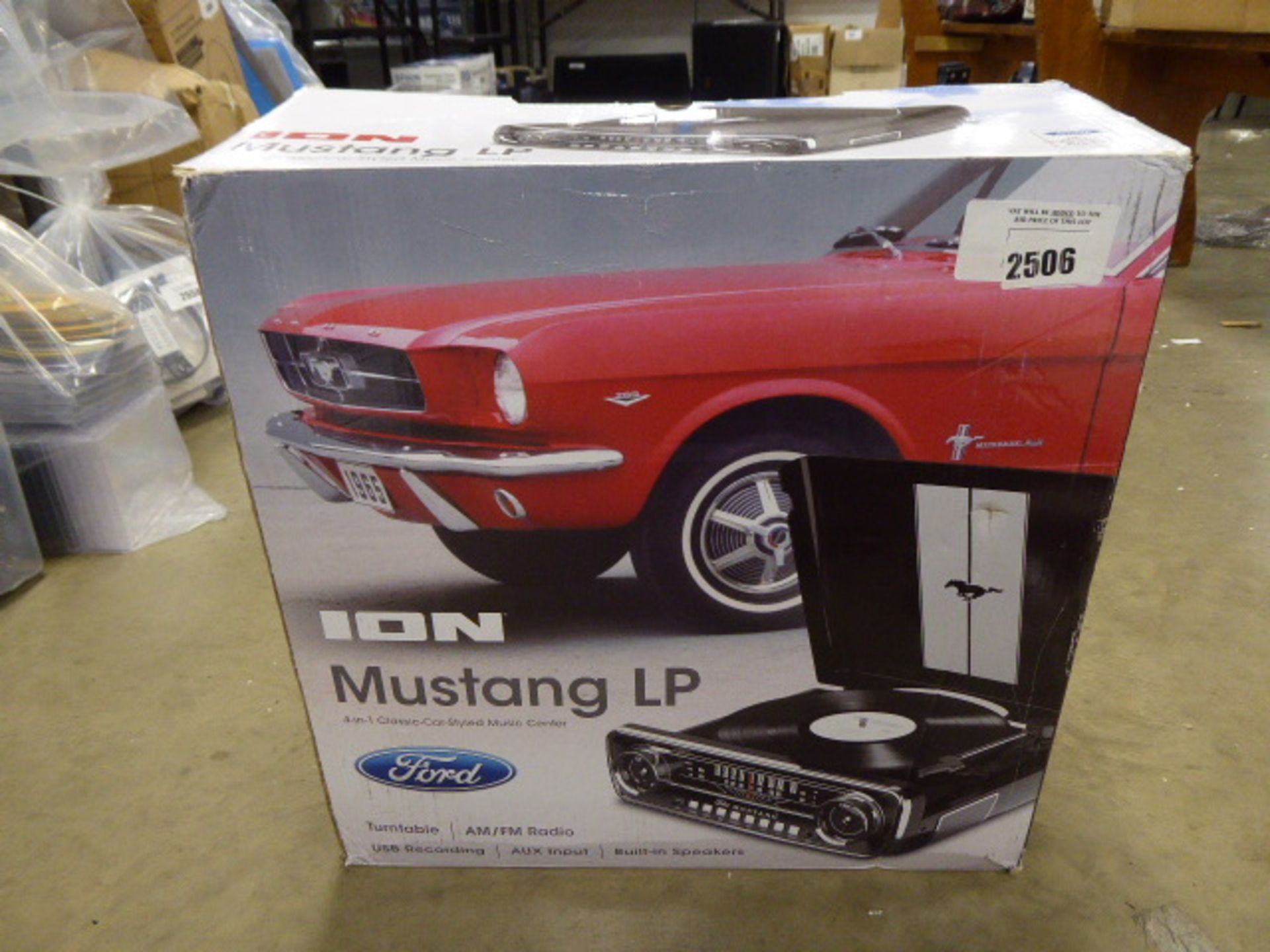 Ion mustang LP 4 in 1 classic car style music sensor in box