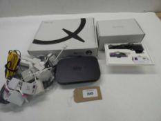 Bag containing Sky HD box and 2 Sky Hubs