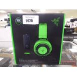 2164 Razer Kraken gaming headset with damaged mic input cable