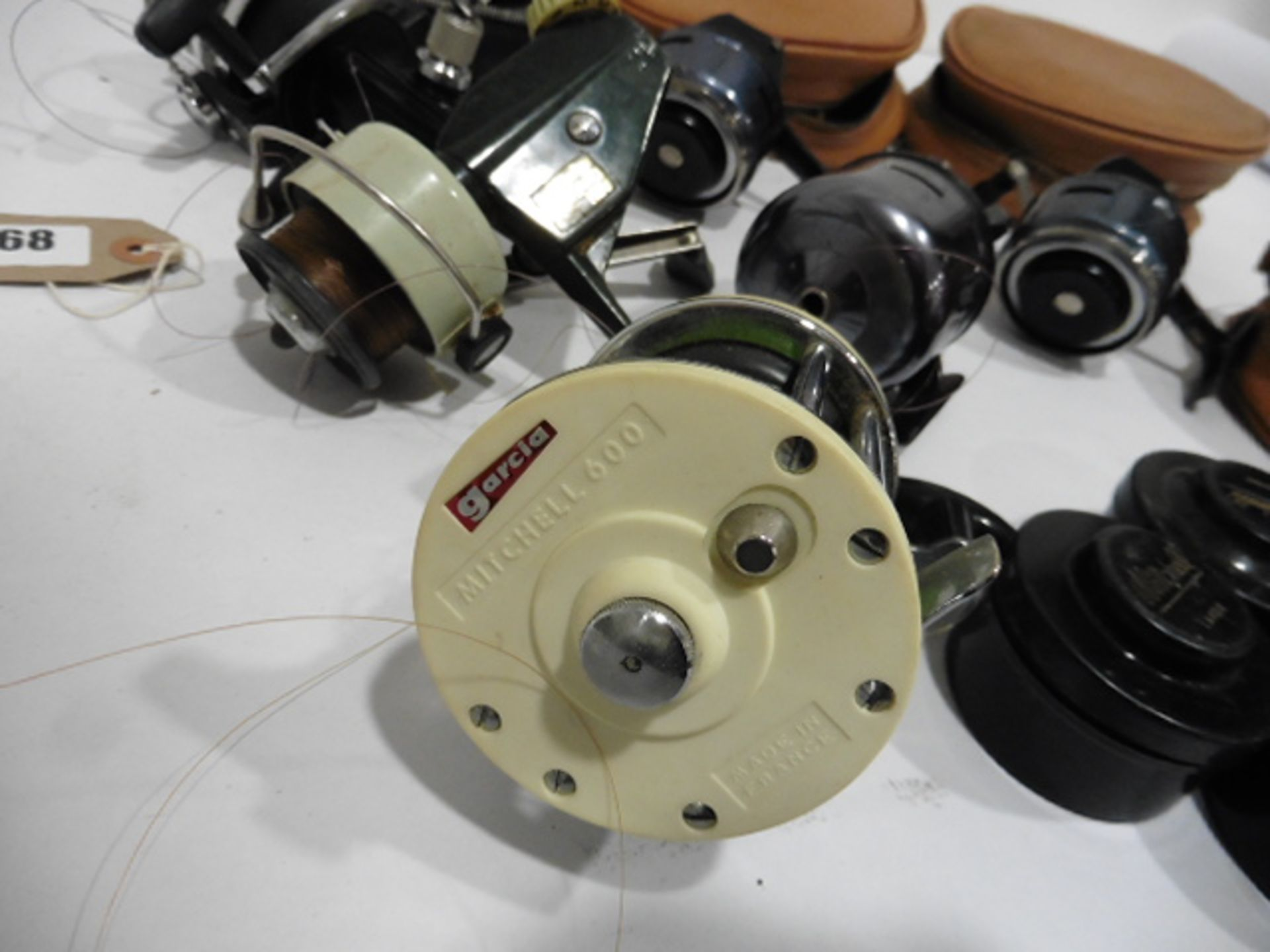 7 vintage reels including Garcia Mitchell 600 multipiler, 2 Abu 506, Mitchell 410 plus spare spools, - Image 2 of 6