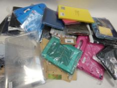 Bag containing tablet cases and covers