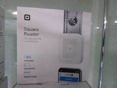 Square chip and pin contactless card reader and a dock for square reader