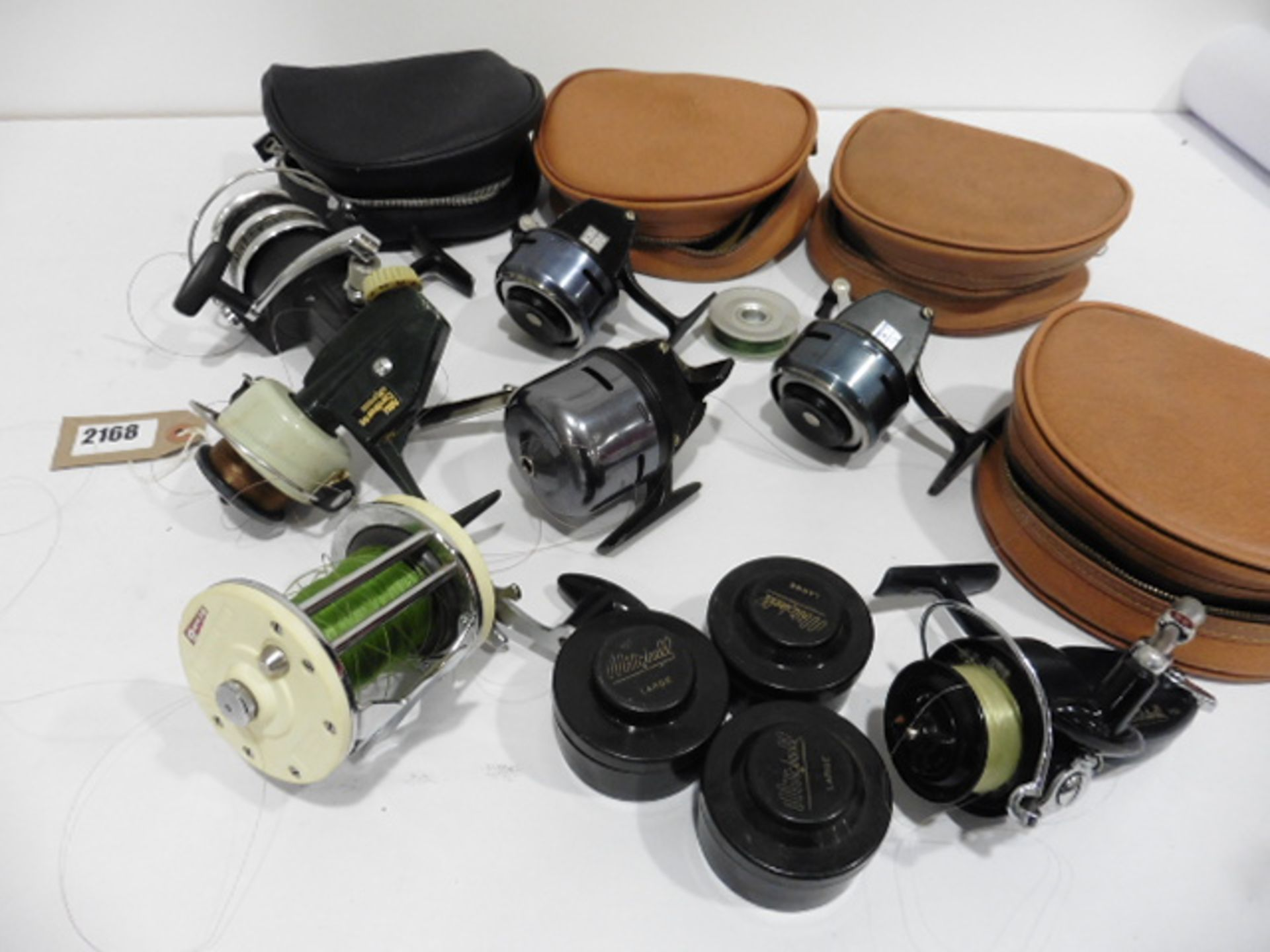 7 vintage reels including Garcia Mitchell 600 multipiler, 2 Abu 506, Mitchell 410 plus spare spools,