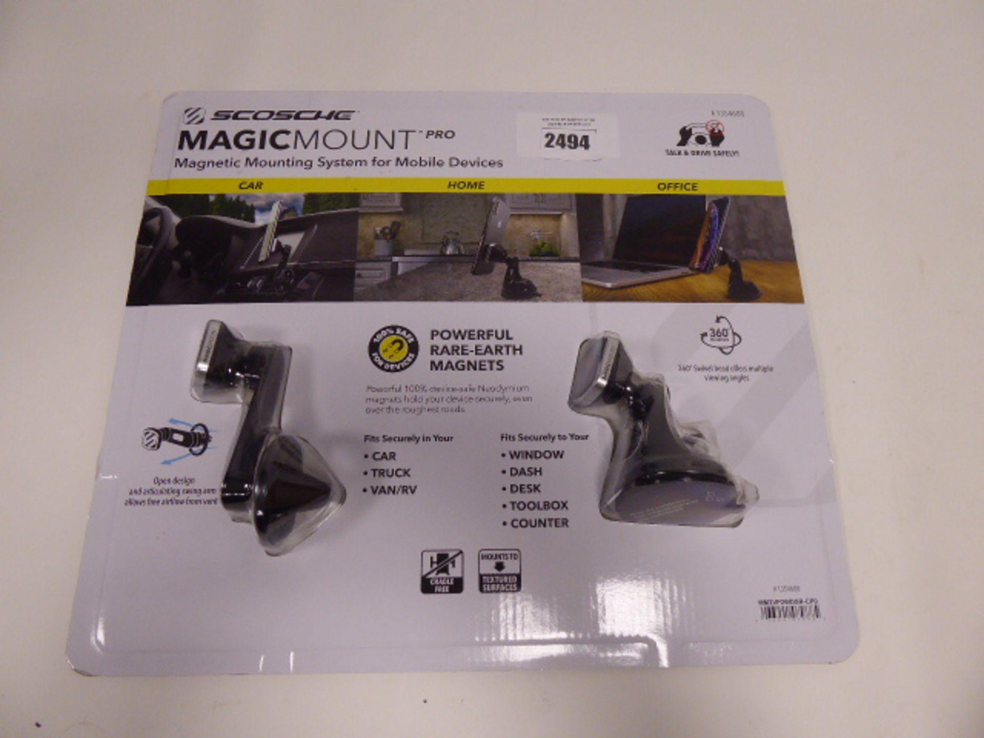 Scosche magic mount in car adaptor