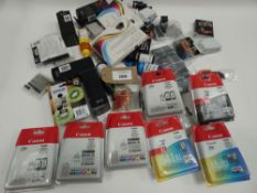 Bag containing quantity of various printer ink cartridges