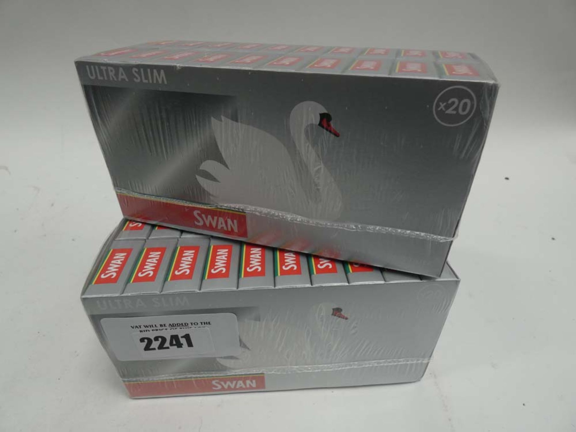 2x boxes of Swan Ultra Slim filter tips