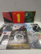 Box containing quantity of LP and 45 records to include Nick Masons, Bob Dylan, The Maccabees, The