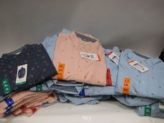 Box containing 70 gents shirts by Weatherproof in light blue, dark blue and pink with anchor and