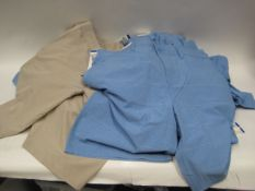 Bag containing 24 gents shorts by Pantene sizes 36'' - 38'' in blue and some beige