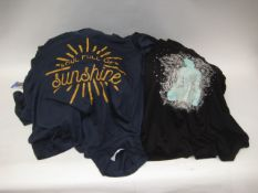 Bag containing 26 T-shirts by Jessica Simpson with 'soul full of sunshine' motif and 18 Jessica