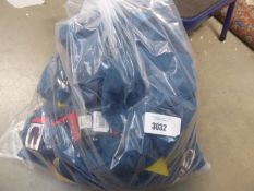 Bag containing 15 Jerry gents shorts with belt in sea blue sizes 32'' - 38''