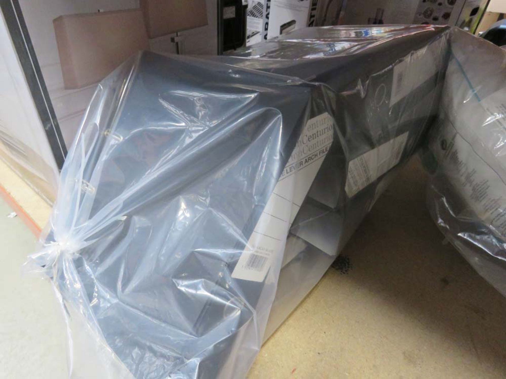 3249 Box containing lever arch files