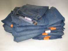 21 pairs of Jessica Simpson rolled crop skinny jeans in denim, various sizes mainly size 16