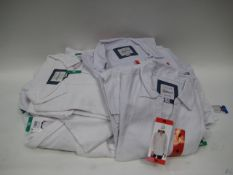 Bag of 25 Jack New York girlfriend white blouses cotton & linen sizes M - XL