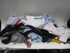 Box of ladies clothing to include trousers, Hillary Radley, Jacks Blouses, DKNY lounge wear, DKNY