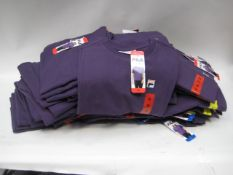 Box containing 70 Fila t-shirts in gothic grape colour