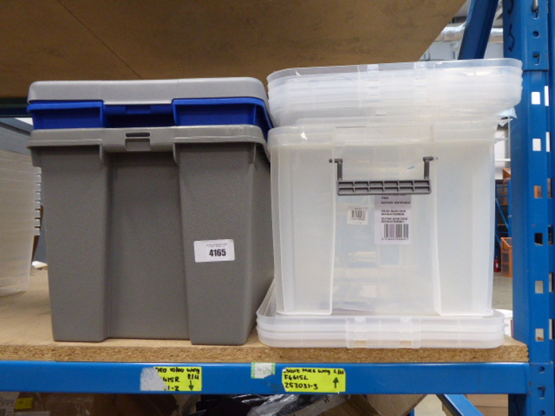 Shelf of assorted storage boxes - Image 2 of 4