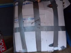 Box containing a quantity of patio heater parts