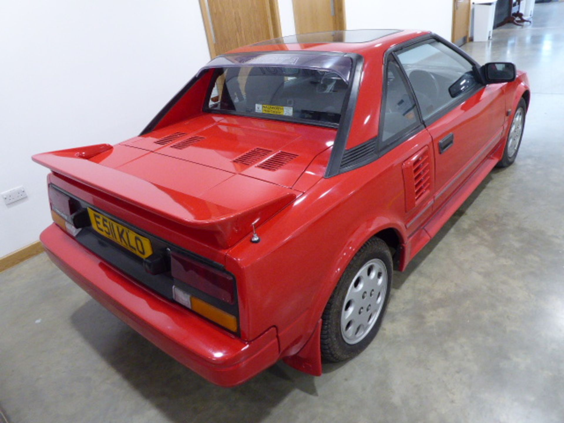 E511 KLO (1988) Toyota MR2, 2 door Sports, 1587cc, petrol, 5 speed manual, 145'881 miles, first reg. - Image 3 of 8