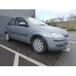 KL53 KTA (2003) Vauxhall Corsa Active 16V, 3 door hatchback, 1199cc, petrol, in silver, 39'044